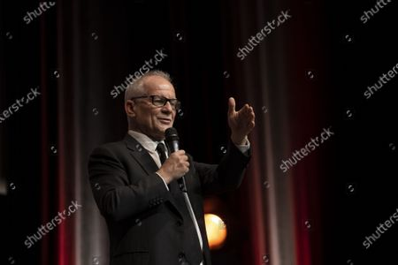 Thierry Fremaux attends the tribute to the brothers Jean-Pierre and Luc Dardenne at the 12th Film Festival Lumiere in Lyon.