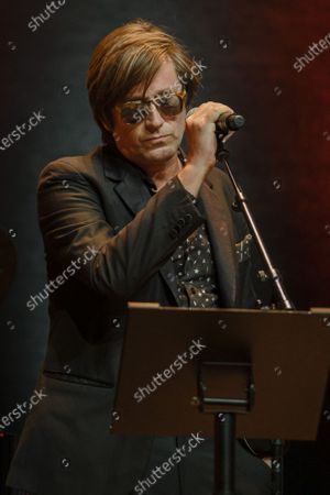 Stock Photo of Thomas Dutronc performs during the tribute to the brothers Jean-Pierre and Luc Dardenne at the 12th Film Festival Lumiere in Lyon