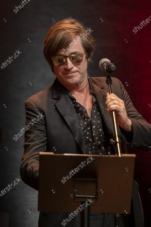 Thomas Dutronc performs during the tribute to the brothers Jean-Pierre and Luc Dardenne at the 12th Film Festival Lumiere in Lyon