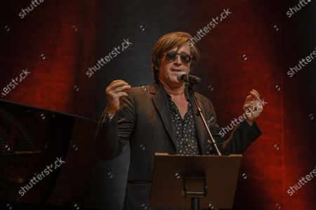 Stock Image of Thomas Dutronc performs during the tribute to the brothers Jean-Pierre and Luc Dardenne at the 12th Film Festival Lumiere in Lyon