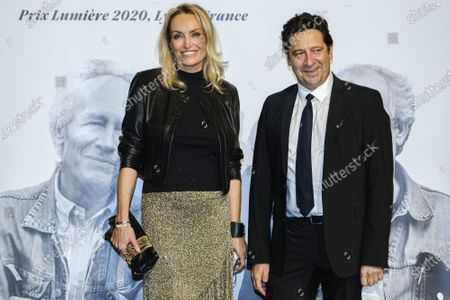 Christelle Bardet and Laurent Gerra attend the tribute to the brothers Jean-Pierre and Luc Dardenne at the 12th Film Festival Lumiere in Lyon.