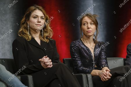 Emilie Dequenne and Jeanne Cherhal attend the tribute to the brothers Jean-Pierre and Luc Dardenne at the 12th Film Festival Lumiere in Lyon.