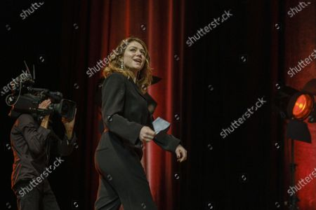 Stock Picture of Emilie Dequenne attends the tribute to the brothers Jean-Pierre and Luc Dardenne at the 12th Film Festival Lumiere in Lyon.