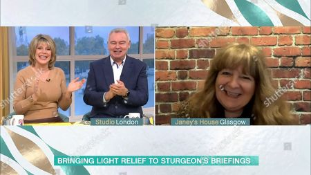 Stock Image of Ruth Langsford, Eamonn Holmes and Janey Godley