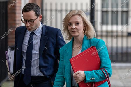 Stock Image of Secretary of State for International Trade and Minister for Women and Equalities Liz Truss leaves 10 Downing Street.