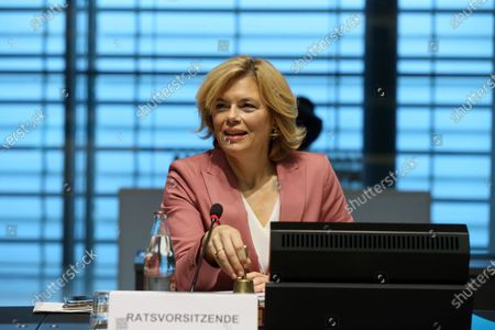 German Minister of Food, Agriculture and Consumer Protection Julia Kloeckner attends an EU Agriculture and Fisheries council ministers meeting in Luxembourg, 19 October 2020.
