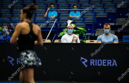 Tom Hill in action during the first round of the 2020 J&T Banka Ostrava Open WTA Premier tennis tournament