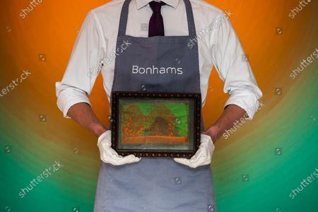 Howard Hodgkin, For Edward, 1984, Estimate: £80,000-120,000 - Preview of Bonhams' Post-War & Contemporary Art sale,in new Bond Street.