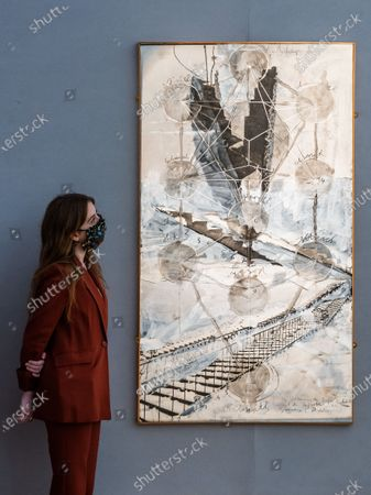 Editorial picture of Preview of Bonhams' Post-War & Contemporary Art sale., New Bond Street, London, UK - 19 Oct 2020