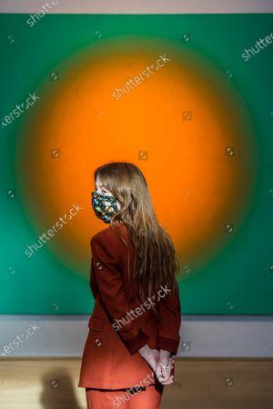 Stock Photo of Peter Schuyff, Untitled, 1987, est £ 6,000 - 8,000 - Preview of Bonhams' Post-War & Contemporary Art sale,in new Bond Street.