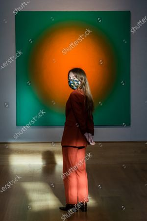 Stock Picture of Peter Schuyff, Untitled, 1987, est £ 6,000 - 8,000 - Preview of Bonhams' Post-War & Contemporary Art sale,in new Bond Street.