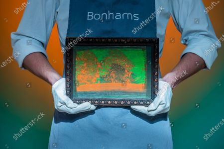 Stock Picture of Howard Hodgkin, For Edward, 1984, Estimate: £80,000-120,000 - Preview of Bonhams' Post-War & Contemporary Art sale,in new Bond Street.