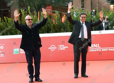 Gianfranco Rosi (L) and Rome Film Festival Artistic Director Antonio Monda (R) attend the 15th annual Rome International Film Festival, in Rome, Italy, 19 October 2020. The film festival runs from 15 to 25 October.