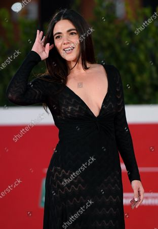 Pina Turco arrives for the screening of 'Fortuna' at the 15th annual Rome International Film Festival, in Rome, Italy, 19 October 2020. The film festival runs from 15 to 25 October.