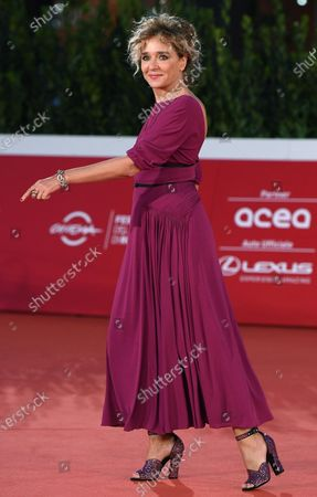 Valeria Golino arrives for the screening of 'Fortuna' at the 15th annual Rome International Film Festival, in Rome, Italy, 19 October 2020. The film festival runs from 15 to 25 October.