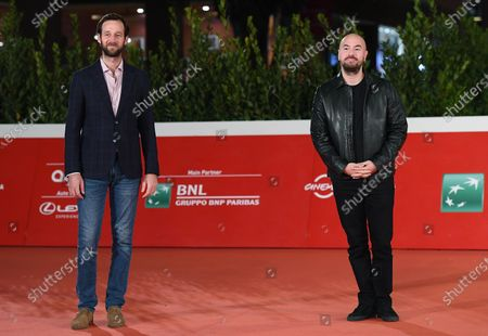 Kyan Khojandi (R) and Benjamin Lavernhe arrive for the screening of 'Le Discours' (The Speech) at the 15th annual Rome International Film Festival, in Rome, Italy, 19 October 2020. The film festival runs from 15 to 25 October.