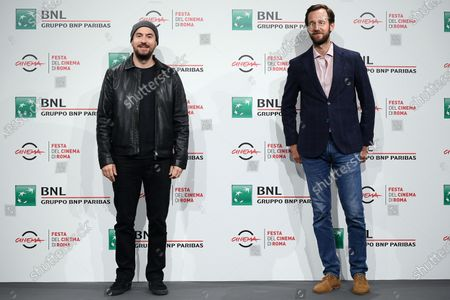 Kyan Khojandi (L) and Benjamin Lavernhe pose during the photocall for the movie 'Le Discours' (The Speech) at the 15th annual Rome International Film Festival, in Rome, Italy, 19 October 2020. The film festival runs from 15 to 25 October.