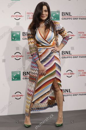 """Actress Pina Turco poses for photographers during the photo call for the movie """"Fortuna"""" at the Rome Film Festival, in Rome"""