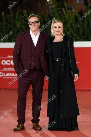 The director Gabriele Muccino with wife Angelica Russo