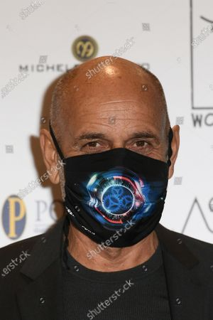 Director Riccardo Milani with face mask