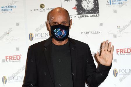 Stock Image of Director Riccardo Milani with face mask