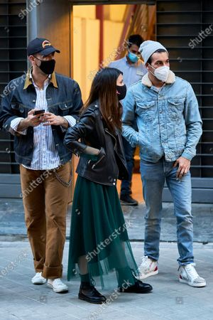 """Elisabeth Larena and Mario Casas are seen coming out of Proyecciones Cinema after the screening of the movie """"No Mataras"""" (Cross the Line)"""