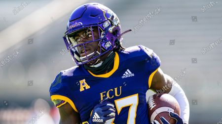 Stock Picture of East Carolina Pirates wide receiver Kerry King (87) during an NCAA football game, in Greenville, N.C