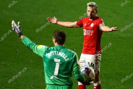 Andreas Weimann of Bristol City shows a look of frustration