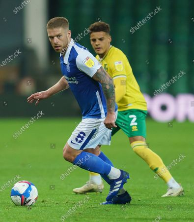 Adam Clayton of Birmingham City (8) and Max Aarons of Norwich City (2)