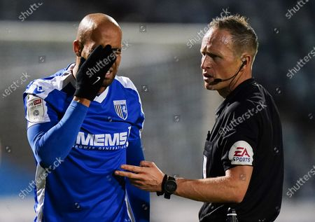 Editorial image of Gillingham v Portsmouth, EFL Sky Bet League One, Football, MEMS Priestfield Stadium, Gillingham, UK - 20 Oct 2020