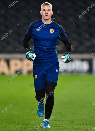 Stock Photo of Goalkeeper David Robinson of Hull City warms up