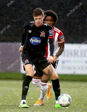 Stock Photo of Derry City vs Dundalk. Dundalk's Sean Gannon and Walter Figueira of Derry