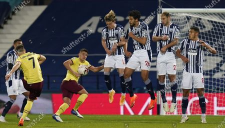 Editorial photo of West Bromwich Albion vs Burnley FC, United Kingdom - 19 Oct 2020