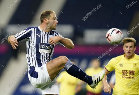Branislav Ivanovic of West Bromwich in action during the English Premier League soccer match between West Bromwich Albion and Burnley FC in West Bromwich, Britain, 19 October 2020.