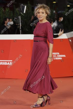 """Actress Valeria Golino poses for photographers during the red carpet for the movie """"Fortuna"""" at the Rome Film Festival, in Rome"""