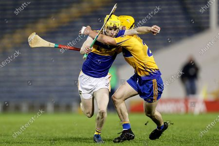 Clare vs Tipperary. Tipperary's Sean Hayes and Paddy Donnellan of Clare