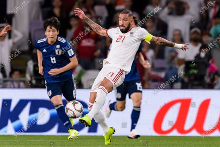 Seyed Ashkan Dejagah of Iran (C) in action during the Semi Finals match