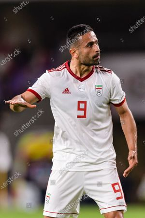 Omid Ebrahimi Zarandini of Iran gestures during the Semi Finals match
