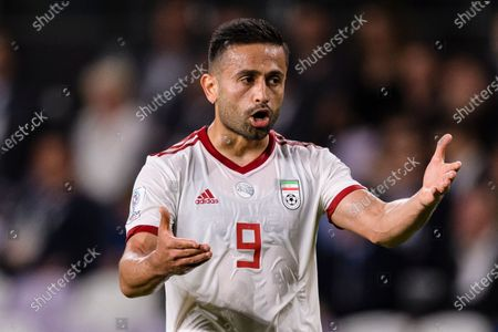 Stock Image of Omid Ebrahimi Zarandini of Iran gestures during the Semi Finals match