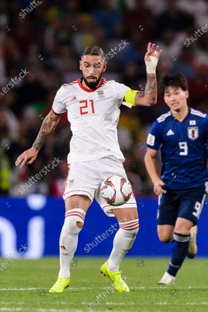 Stock Photo of Seyed Ashkan Dejagah of Iran in action during the Semi Finals match