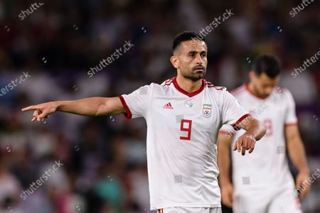 Stock Photo of Omid Ebrahimi Zarandini of Iran gestures during the Semi Finals match