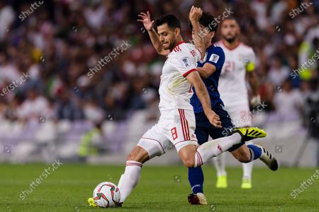 Morteza Pouraliganji of Iran (C) in action during the Semi Finals match
