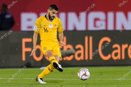 Aziz Behich of Australia in action during the Round of 16 match