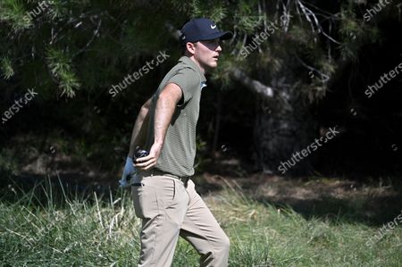 Stock Photo of Russell Henley during the final round of the CJ Cup golf tournament at Shadow Creek Golf Course, in North Las Vegas