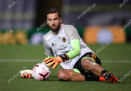 Rui Patricio of Wolverhampton warms up ahead of the English Premier League match between Leeds United and Wolverhampton Wanderers in Leeds, Britain, 19 October 2020.