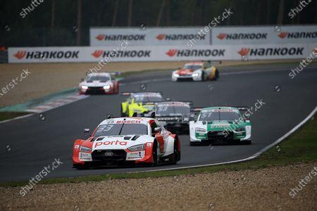 Stock Photo of Rene Rast (DEU#33), Audi Sport Team Rosberg, Nico Müller (CH#51), Audi Sport Team Abt Sportsline, Jamie Green (GBR#53), Audi Sport Team Rosberg
