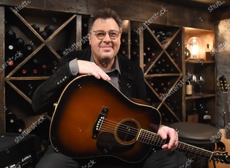 Stock Picture of Vince Gill stops by the Circle Television Network, 'Phil Vassar's Songs from the Cellar', in Nashville, TN. Airing in October 22, 2020 on Circle @PhilVassarSFTC @circleallaccess