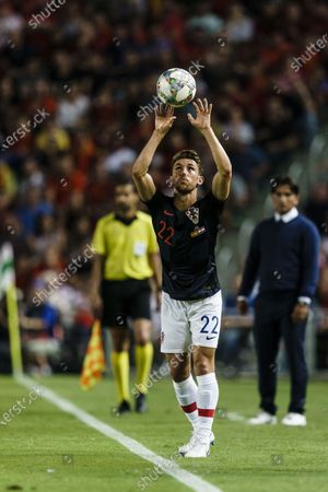 Josip Pivaric of Croatia in action during their UEFA Nations League 2018-19 match between Spain and Croatia at Manuel Martínez Valero