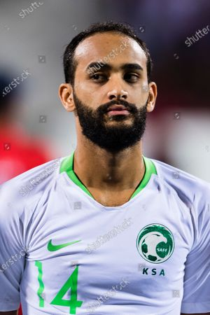 Abdullah Otayf of Saudi Arabia prior to the AFC Asian Cup UAE 2019 Group C match between Saudi Arabia (KSA) and North Korea (PRK) at Rashid Stadium