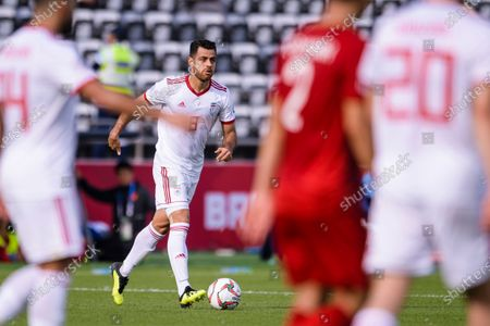 Morteza Pouraliganji of Iran in action during the AFC Asian Cup UAE 2019 Group D match between Vietnam (VIE) and I.R. Iran (IRN) at Al Nahyan Stadium